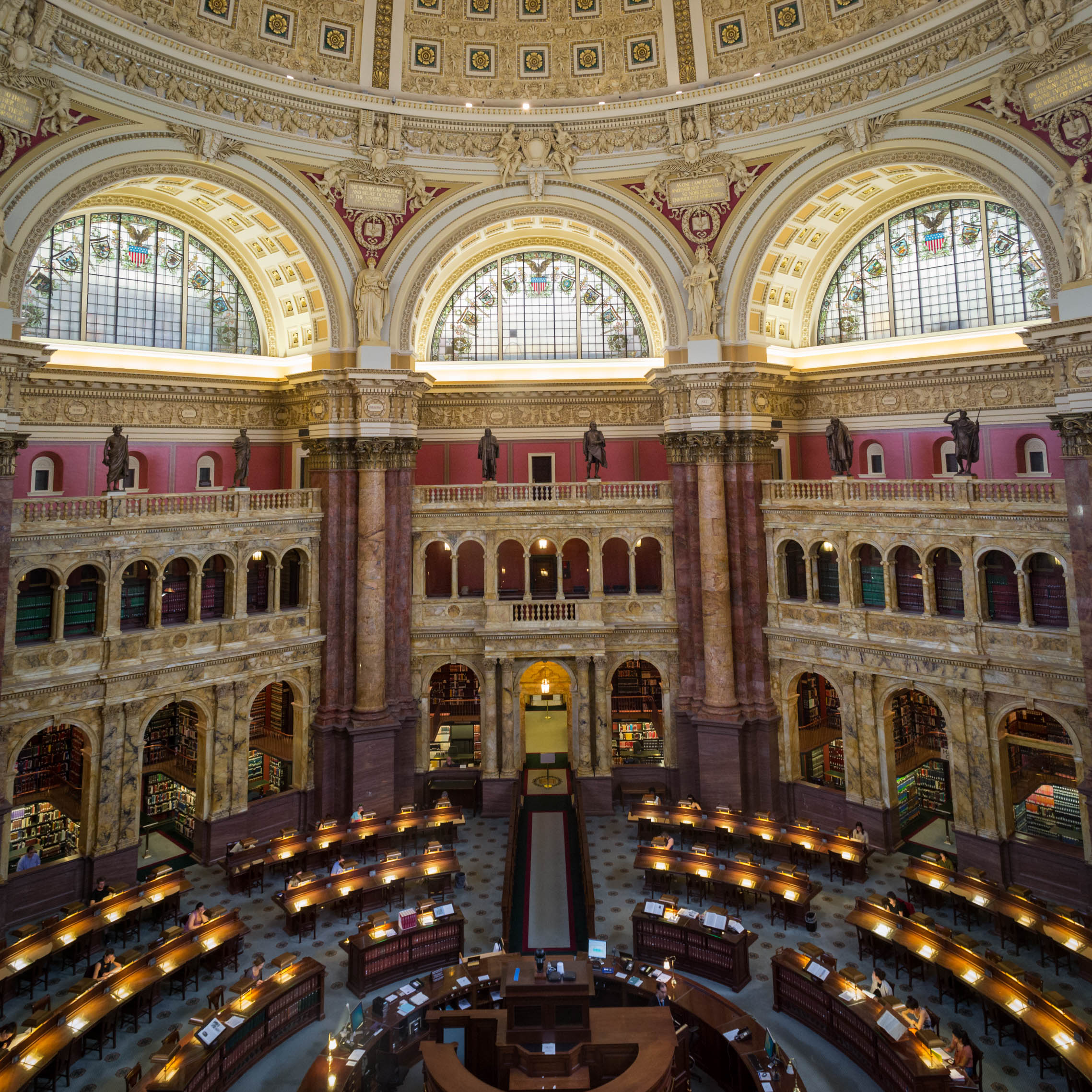 The Library of Congress depuis le balcon d'observation