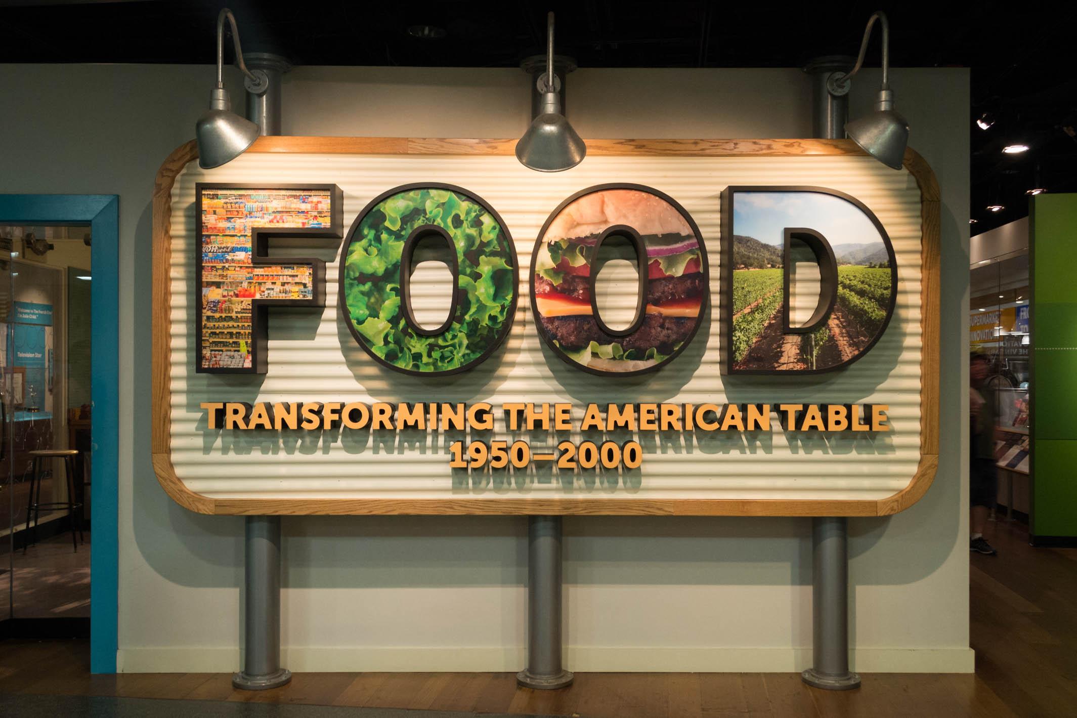 Une partie du musée dédié à la nourriture aux Etats-Unis