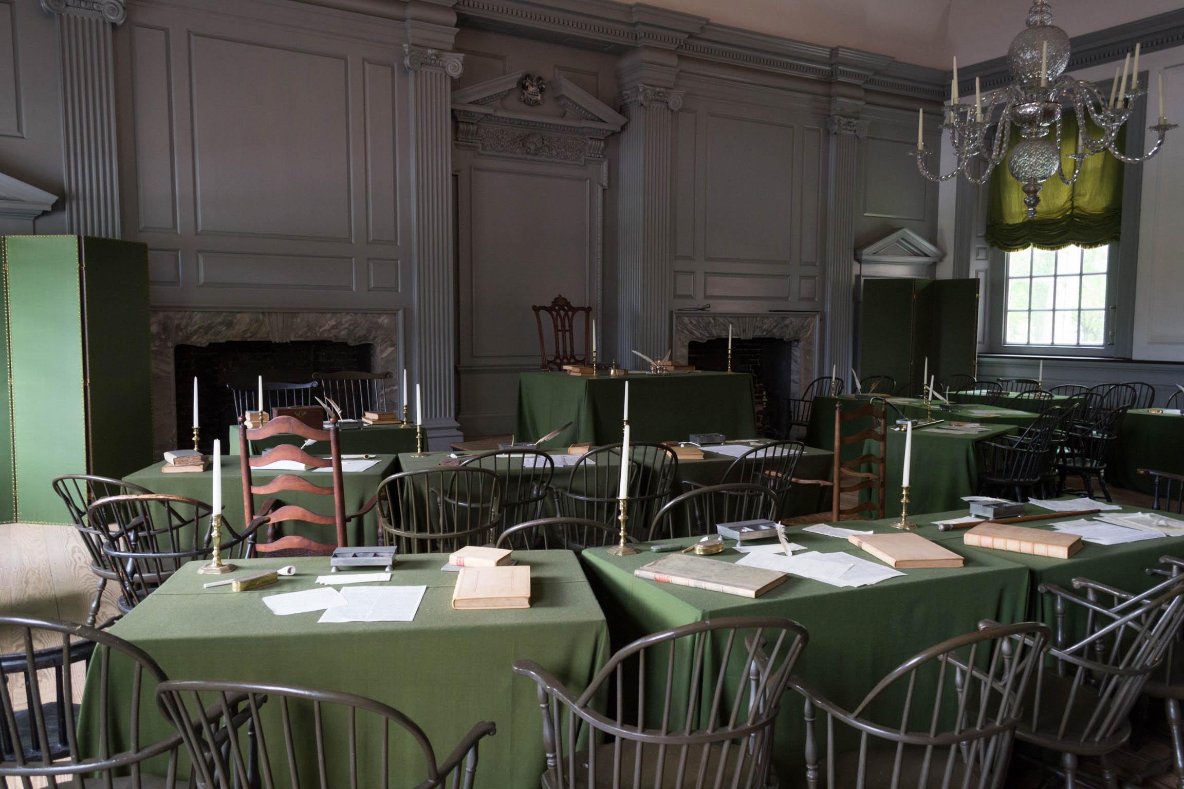 La salle où la Déclaration d'Indépendance a été proclamée