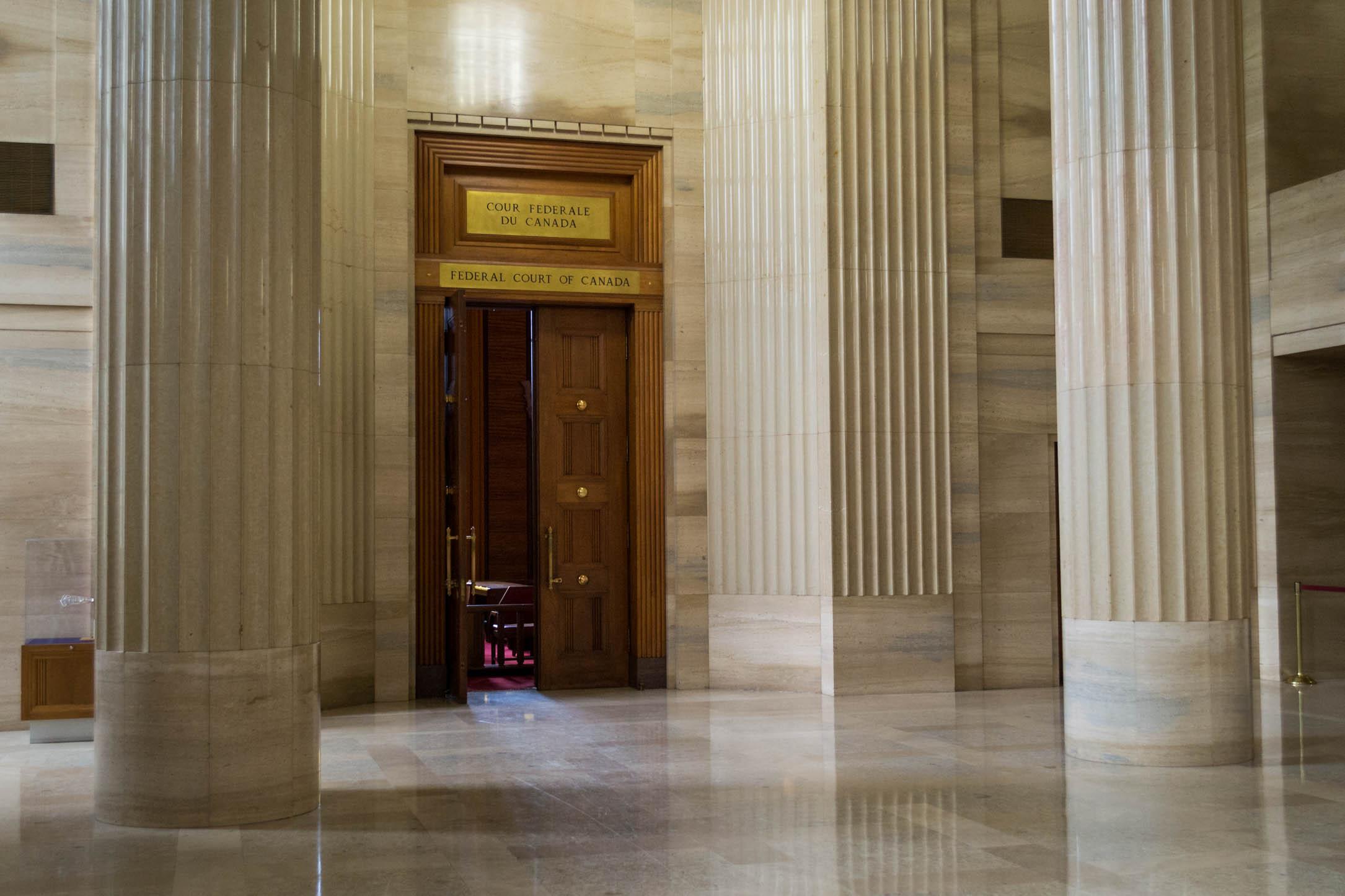 A l'intérieur du bâtiment contenant la Cour Suprême