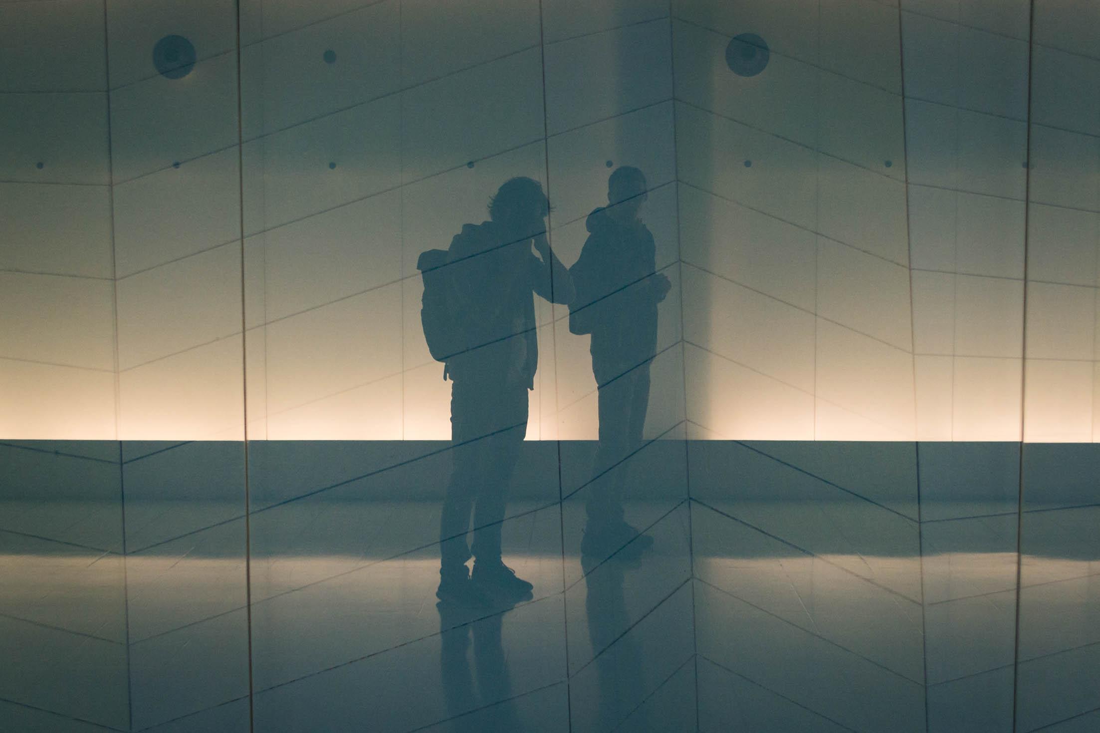 Le reflet de 2 compères dans les souterrains ! ;)