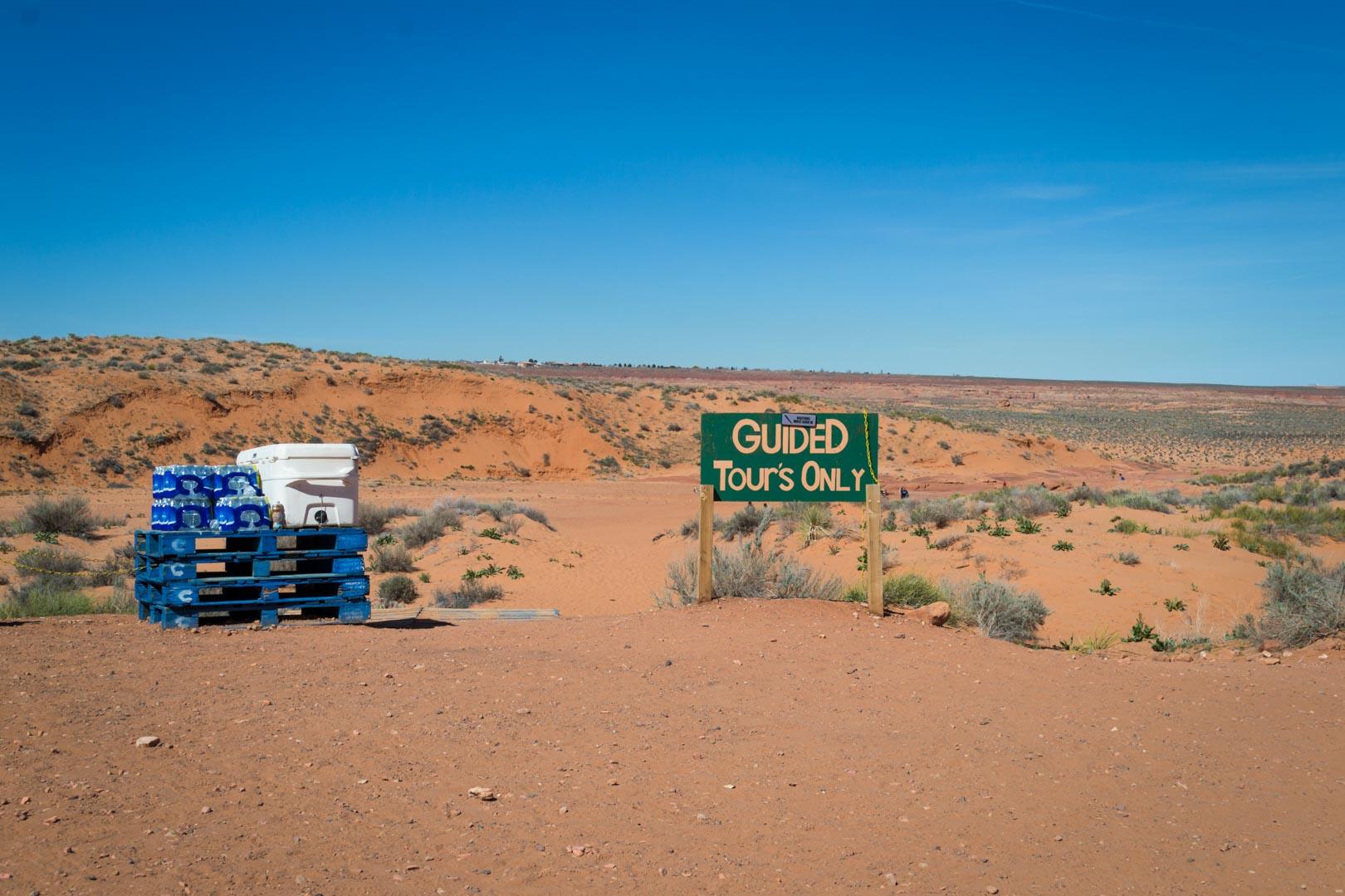 Le début de la visite : pas évident de visualiser le canyon à ce stade !