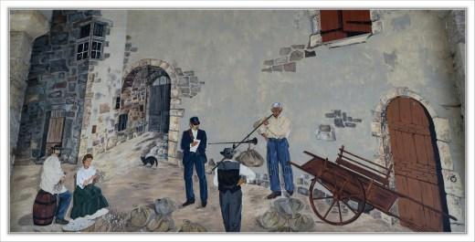 """Fresque """"le marché aux cocons"""""""