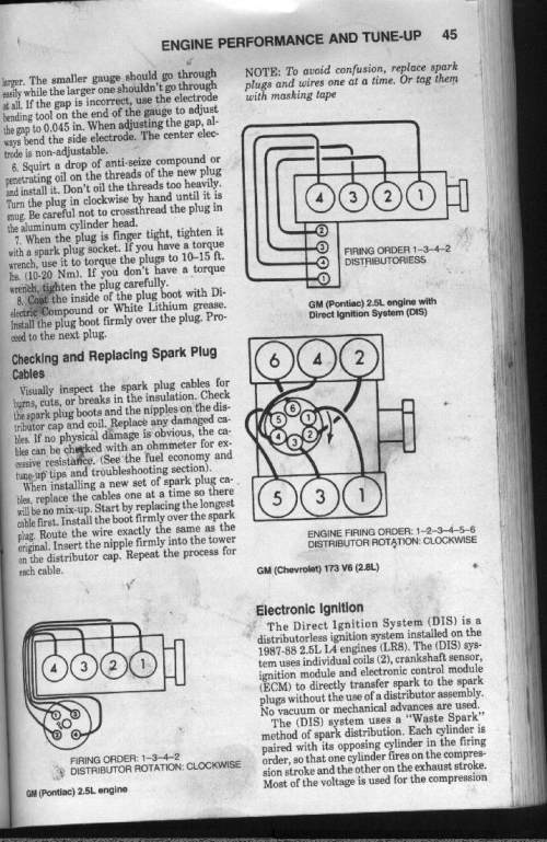 small resolution of 1985 v4 fiero d i s firing order west coast fieros forum fiero spark plug wiring diagram