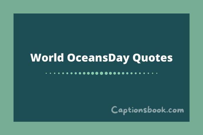 World Oceans Day Quotes