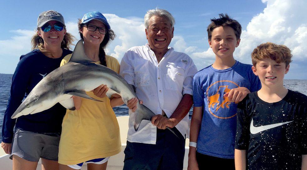 Blacktip Shark, Catch & Release, Sanibel Island Fishing Charters & Captiva Island Fishing Charters, Sanibel Island, Monday, July 9, 2018.