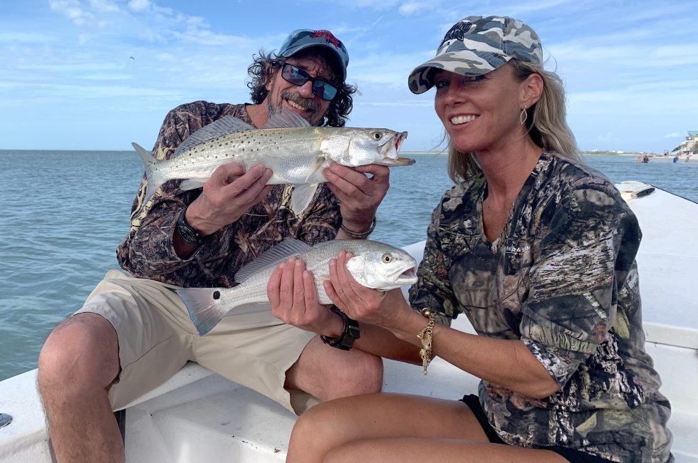 Sea Trout & Redfish, Sanibel Island Fishing, Catch & Release, Captiva Island, Friday, December 28, 2018.