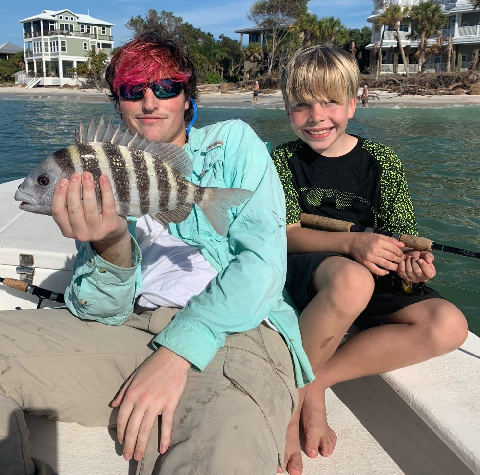 Sheepshead, Sanibel Island Fishing, Catch & Release, North Captiva Island, Saturday, December 29, 2018.