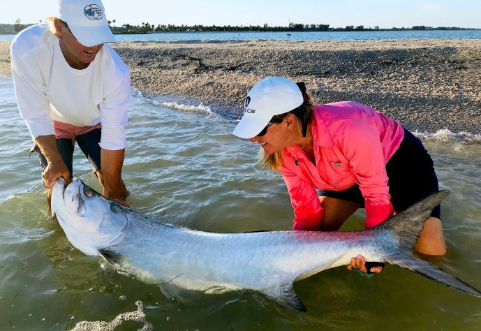 Tarpon, Jimmy Burnsed, Sanibel Island Fishing, Catch & Release, Captiva Island, Tuesday, April 23, 2019.