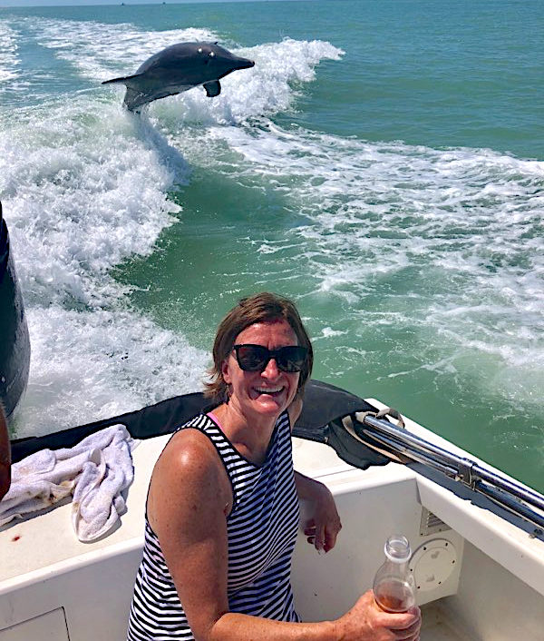 Dolphins Playing, Sanibel Island Fishing, Catch & Release, Captiva Island, Monday, May 20, 2019.