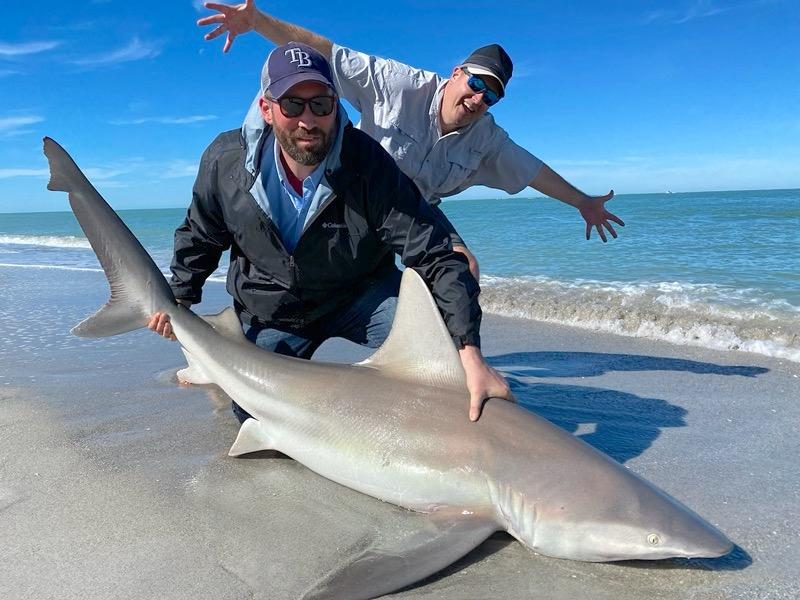 Sandbar Shark, Sanibel Island Fishing, Catch & Release, Captiva Island, Sunday, February 7, 2021.