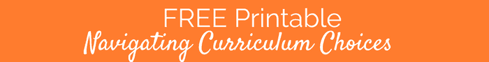 Free Home School Printable | Curriculum Decisions | Best Curriculum |