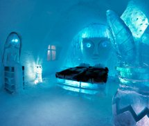 Ice Themed Hotel Room