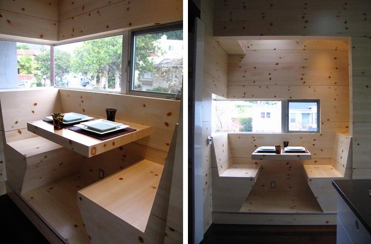 Breakfast Nook Built In In Light Wood Captivatist