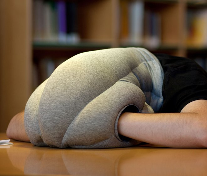 Ostrich Pillow by Studio Banana Blocks Sound and Light  Captivatist