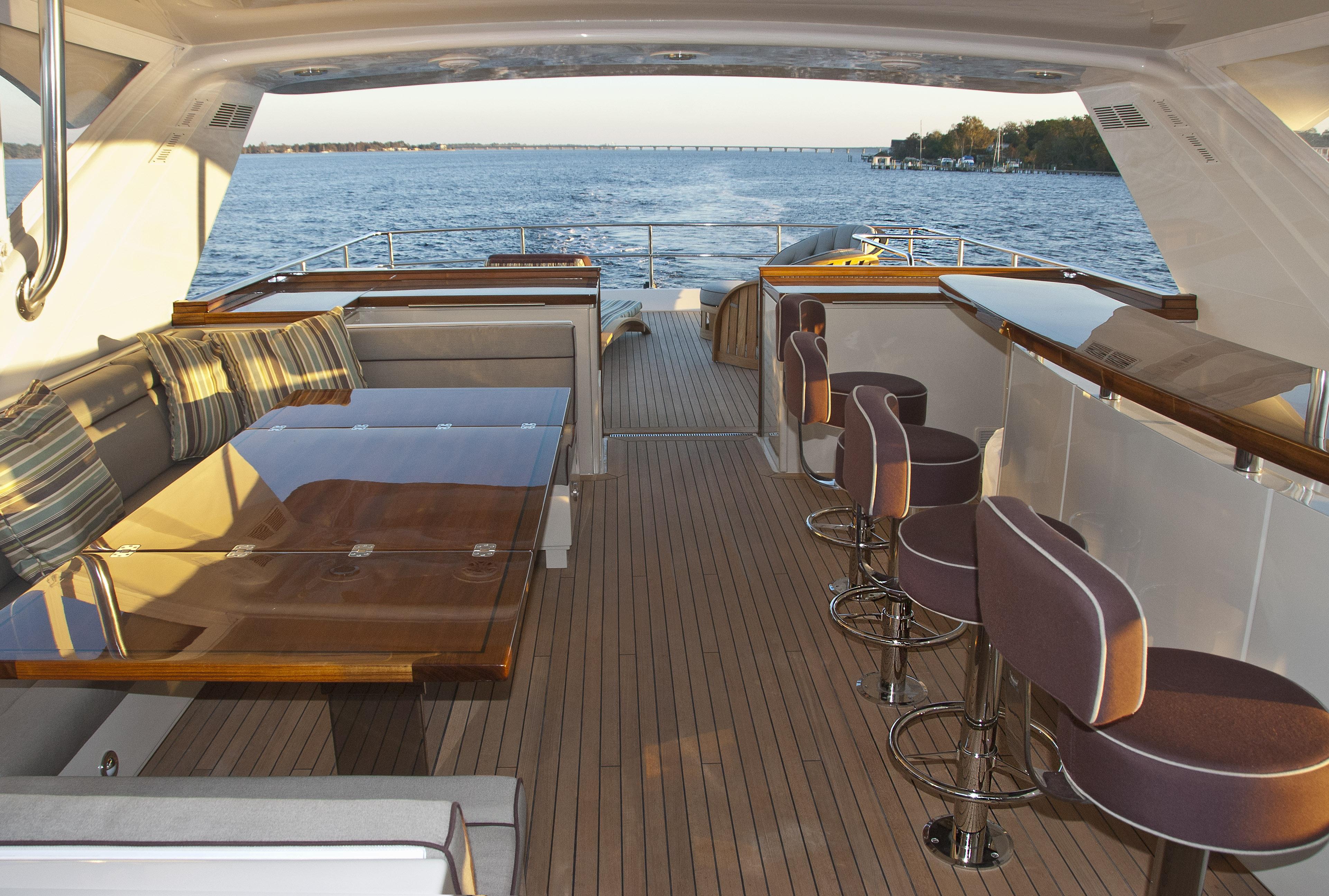 Hatteras 80foot Motoryacht  Captain Ken Kreislers Boat