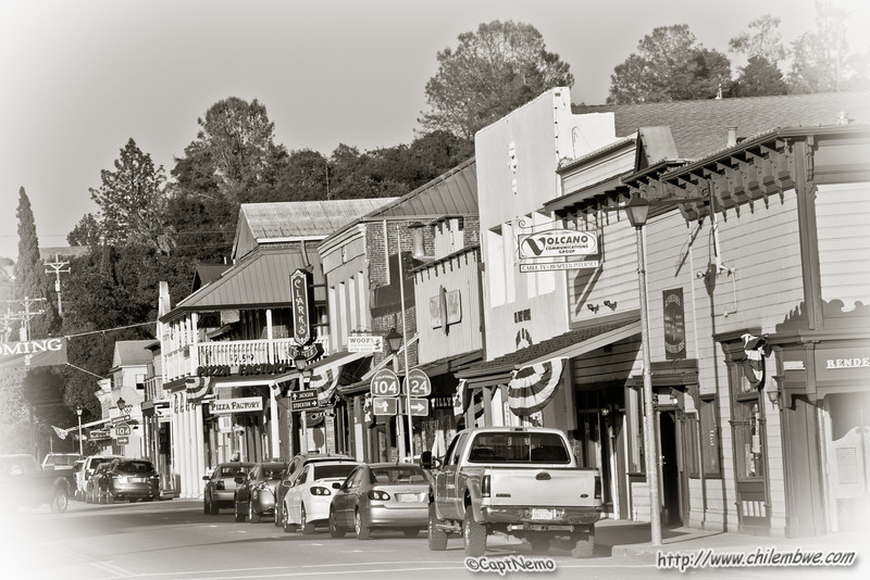 Downtown, Main street, Ione, Ca.