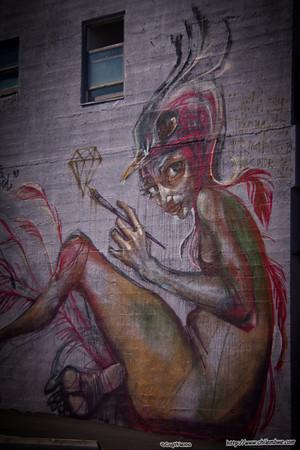 Street art, LA China Town
