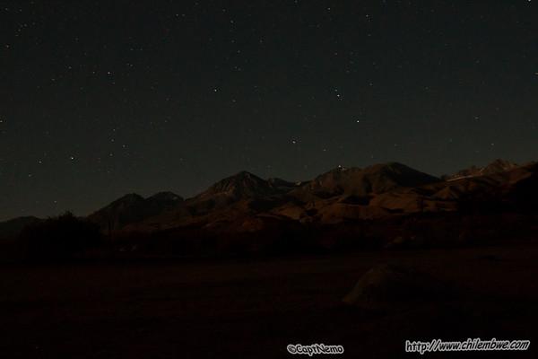 Night sky, Big pine Ca.