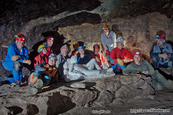 Group photo in the cave