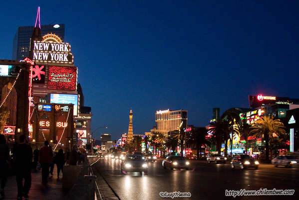 Bright lights on the Vegas strip
