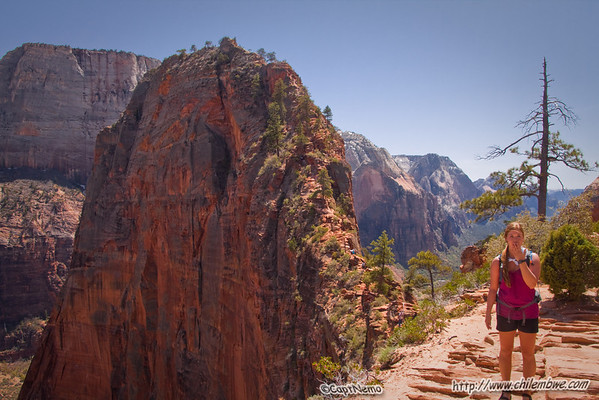 Holly at the base of Angels landing