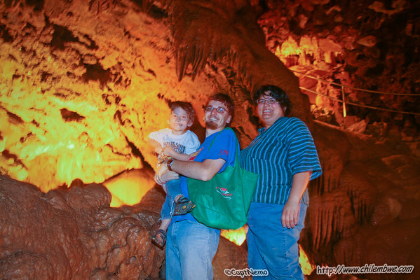 James, Emily and Michael in Shasta Caverns