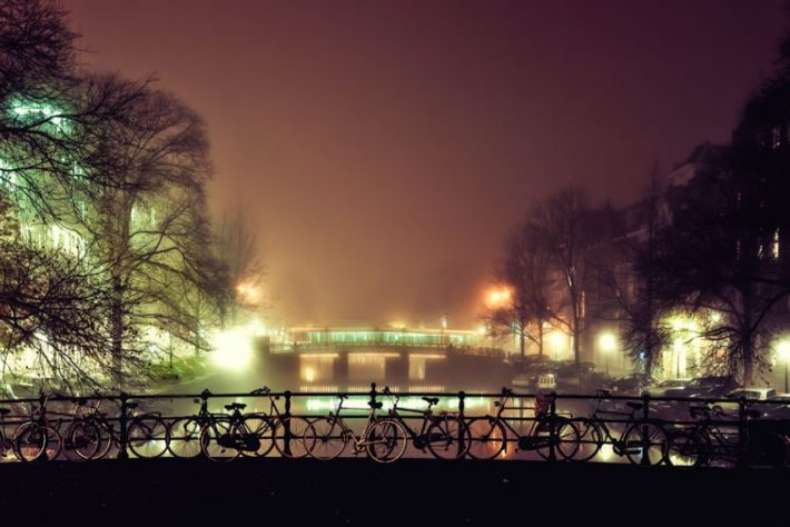 Pim Hendriksen - Amsterdam Canal in Mist