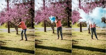 Caitlin Gender Reveal Collage 2