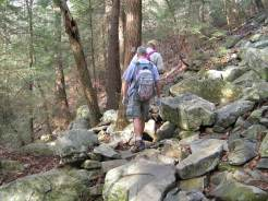 We often climbed through boulder fields.