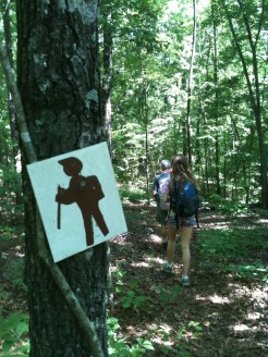 "Different colors of ""Hiker Joe"" led us all over the trails in the park. Love his really cool bangs!"