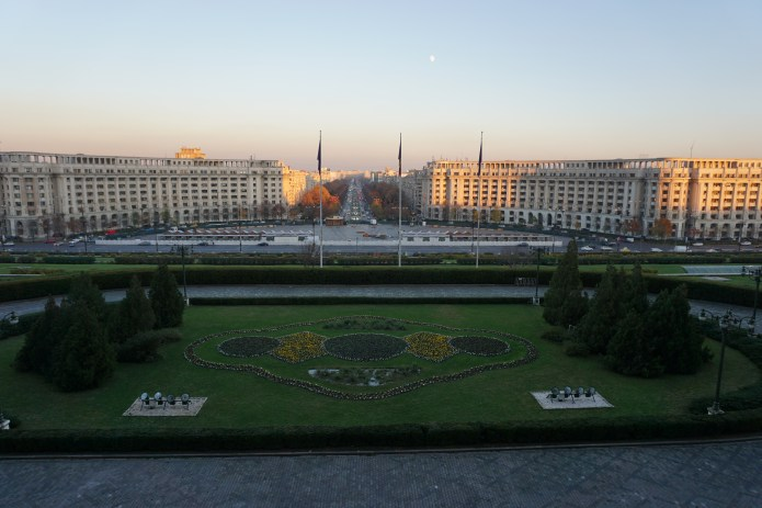 Taken from the balcony of the Palace of the People, Bucharest