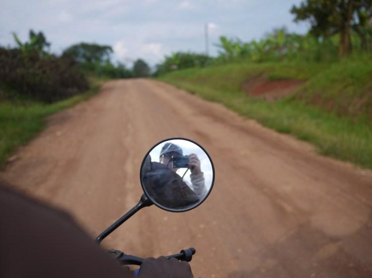 Cyndy in rural Uganda - November 2011