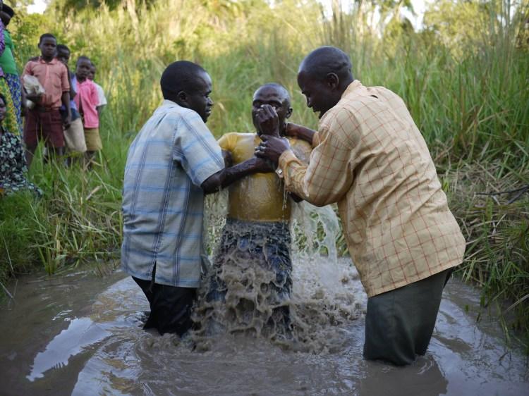 Baptisms in Uganda