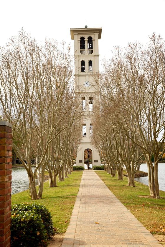 The Bell Tower is a landmark at Furman, the original tower was built in 1854