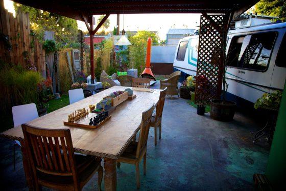 Tao and Roisen's backyard