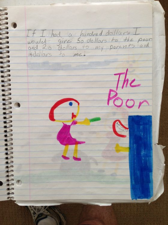 From Christina's journal during second grade