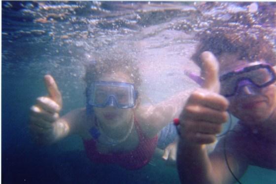 Snorkeling La Jolla California June 2002