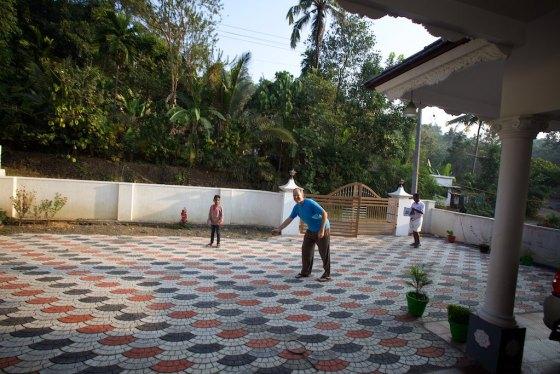 Playing cricket with Jabez and Ashland