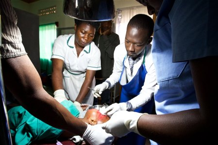 Medical clinic in Uganda
