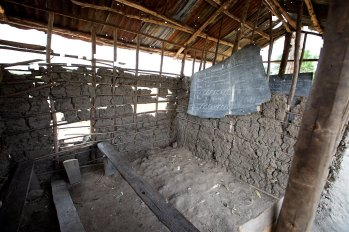 This is what one of the classrooms looks like at a Ugandan school near the Master Cares Christian Academy