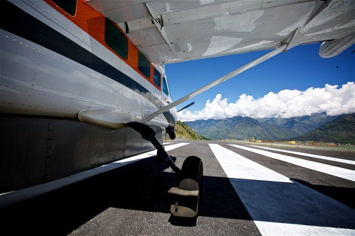 Preparing for takeoff in the Himalayas