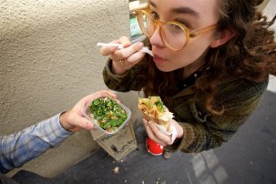A back alley gastronomic experience in Paris, France. Best shawarma ever from Au Vieux Cèdre