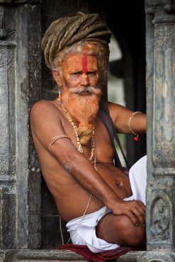 A sadhu at Pashupatinath Temple in Katmandu, Nepal