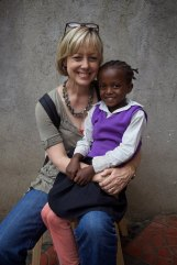 Julie Miller (Executive Director USA) with one of the children helped by the Adera Foundation