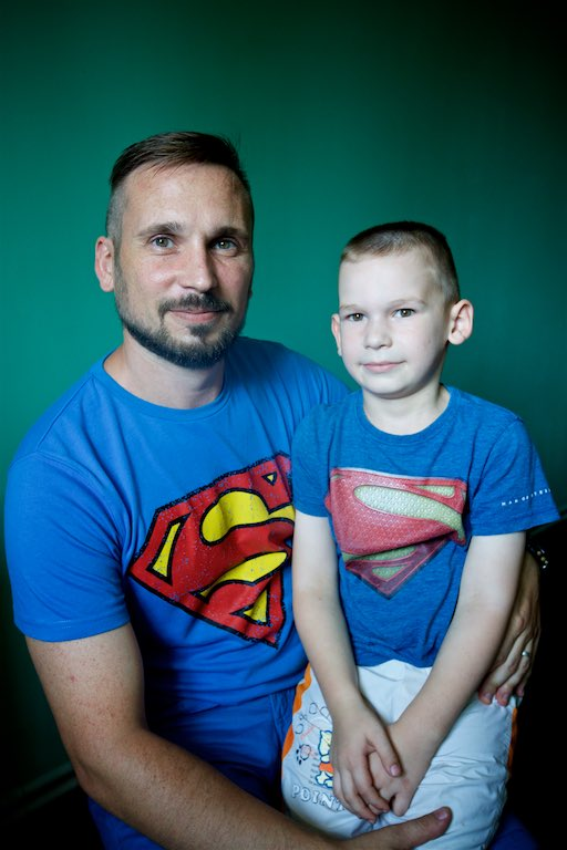 Abram and his son Makar, Abram is the Last Bell youth counselor.