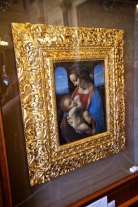 Da Vinci's The Madonna and Child (The Litta Madonna), entered into The Hermitage collection in 1865