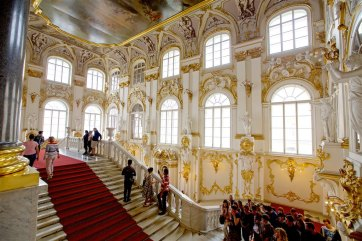 Ambassador's (Jordan) Staircase at the Winter Palace / Hermitage Museum