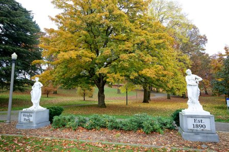 Wright Park - Statues donated from a Tacoma resident from his travels in Europe