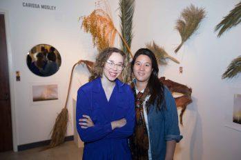 Carissa and her art teacher
